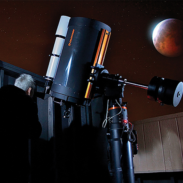 Star Gazing At Spencer's Observatory with Telescope