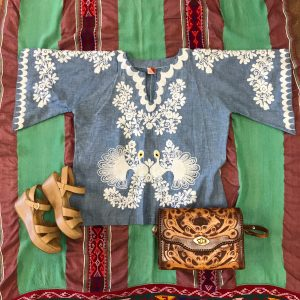 One-of-a-kind Embroidered Vintage Blouse Buffalo Trading Post